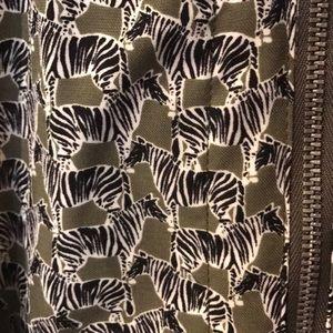 Splendid Dresses - Splendid Zebra Print Zip Dress